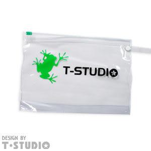 《T-STUDIO拉拉購物網》 PVC小蛙夾鍊袋