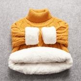 兒童毛衣2020冬童裝兒童毛衣男童圓領針織衫女童加厚打底寶寶套頭高領毛衣 新品