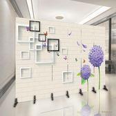 歐式折疊屏風隔斷簡約現代餐廳客廳臥室辦公室美容院隔床行動折屏Igo「時尚彩虹屋」