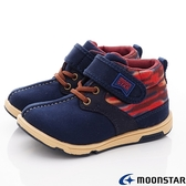 日本Moonstar月星機能童鞋HI系列寬楦護踝穩定靴鞋款22085深藍(中小童段)