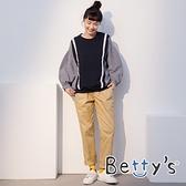 betty's貝蒂思 素面腰帶休閒長褲(卡其)