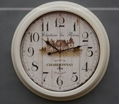 【協貿國際】鄉村白色復古創意客廳裝飾掛鐘