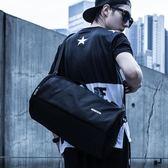 手提健身包男士圓筒包訓練包運動包行李包女旅行袋單肩學生籃球包  卡布奇諾