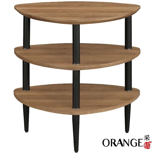 【采桔家居】開羅 現代風2尺三層置物架/玄關桌