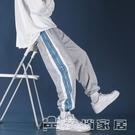 休閒褲 J條紋運動褲男士寬鬆束腳休閒衛褲秋季束腿長褲潮流男褲Y68- 17【快速出貨】