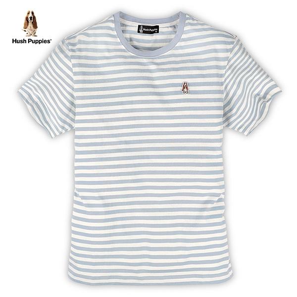 Hush Puppies T恤 男裝悠閒好感條紋上衣男T恤