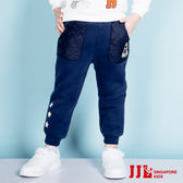 JJLKIDS 男童 星星機器人溫暖加厚運動休閒棉褲鬆緊褲(藏青)