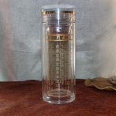 大悲咒水晶杯正品加厚雙層水杯隔熱