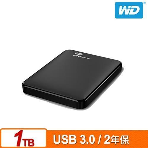 WD Elements 1TB 2.5吋行動硬碟(WESN)【送硬碟收納包】