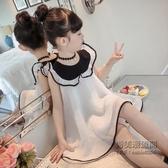 童女童韓版連身裙兒童公主裙洋氣背心裙紗裙子