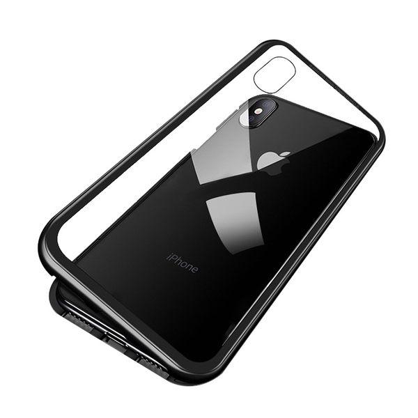 限時秒殺 萬磁王 iPhone X Xs Max 手機殼 金屬邊框 保護殼 鋼化玻璃殼 磁吸殼 保護套