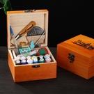 復古家用實木針線盒縫紉套裝收納盒手縫線縫衣線手工DIY縫補工具