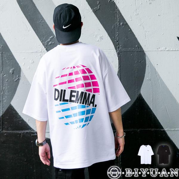 【OBIYUAN】短袖衣服 DILEMMA 印花 寬鬆落肩 潮流短袖T恤 共2色【Y0772】