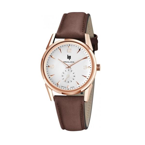 【lip】Himalaya時尚精緻皮革石英腕錶-復古棕/671058/台灣總代理公司貨享兩年保固