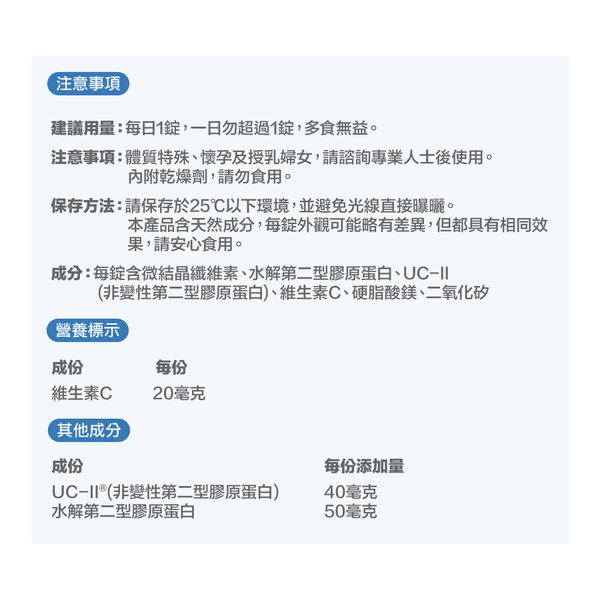 白蘭氏 保捷膠原錠 30錠/盒 -UCII獲5項國際專利 加倍靈活