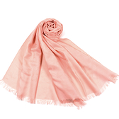 美國正品 COACH 經典小C LOGO羊毛混絲薄圍巾-粉色【現貨】