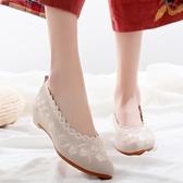 老北京淡雅古風鞋子女 漢服鞋中國風繡花鞋布鞋旗袍配鞋民族風女鞋