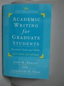 【書寶二手書T6/語言學習_WGN】Academic Writing for Graduate Students_Swa