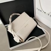 側背包 石頭紋質感小包包2020新款潮時尚側背女包斜背百搭ins簡約小方包 愛麗絲