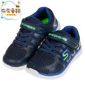 《布布童鞋》SKECHERS深海藍輕量兒童運動鞋(14~18公分) [ N8A46NB ]
