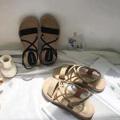 鬆緊帶涼鞋女新款復古羅馬學生平底韓版仙女百搭波西米亞涼鞋 莫妮卡小屋