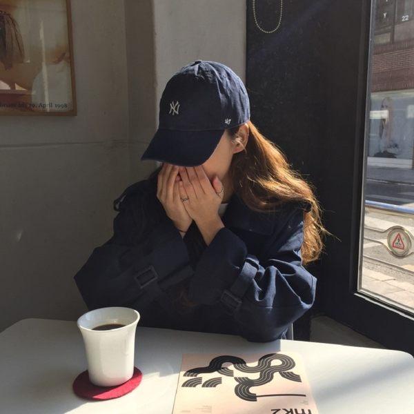 免運★梨卡 - 2018韓國秋冬新款中長版米色雙排扣立領繫帶綁帶寬鬆過膝風衣外套BR103