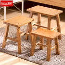 小木凳 小凳子家用時尚創意茶幾矮凳兒童卡通實木小板凳木凳方凳沙發凳子 晶彩 99免運