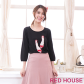 【RED HOUSE-蕾赫斯】珍珠鞋子針織衫(黑色)