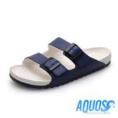 G.P AQUOS雙色雙帶柏肯防水拖鞋 男鞋-白藍