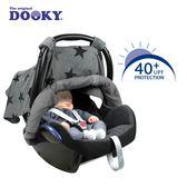 【限時7折】荷蘭DOOKY-抗UV手提汽座可調式遮陽罩-鉛灰星星