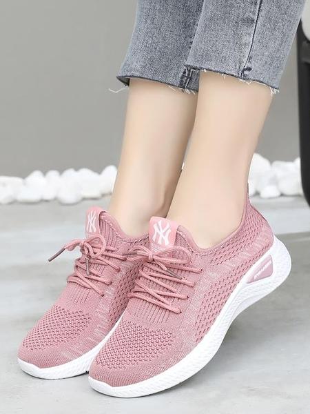 布鞋女鞋韓版百搭網面運動鞋防滑跑步鞋軟底休閒鞋