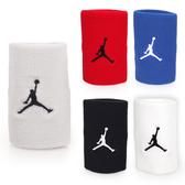 NIKE Jordan Jumpman單色腕帶(飛人喬登 籃球 NBA 護腕 一雙入 免運 ≡排汗專家≡