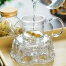 耐熱高溫過濾玻璃茶壺家用花泡茶壺單壺小號茶水壺茶具沖茶器加厚 滿天星