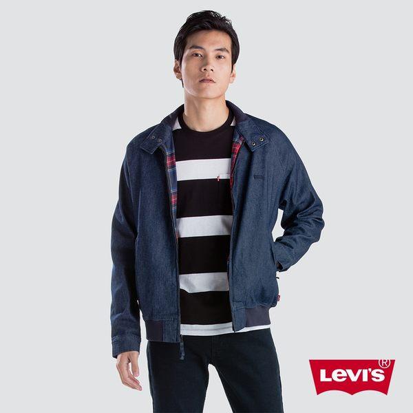 Levis 男款 牛仔外套 / 小Logo 布章 / 內裏蘇格蘭格紋