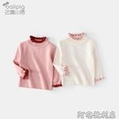 女童毛衣新款洋氣高領嬰兒毛線衣服秋冬裝加厚套頭寶寶打底衫 交換禮物