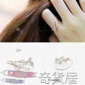 韓國樹葉戒指戒子開口 個性指環韓國尾戒女