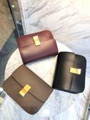 ■專櫃85折■Celine 189173 中款Liege 樹枝紋小牛皮CLASSIC BOX 手袋 亮面堅果色