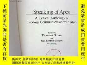 二手書博民逛書店Speaking罕見of Apes說到猿【貨35號】英文原版 館