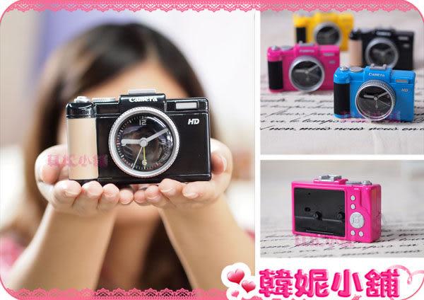 ☆韓妮小舖☆【QA0119】韓風 相機鬧鐘 時鐘 桌鐘 床頭鐘 辦公小物 單眼鬧鐘 擺飾