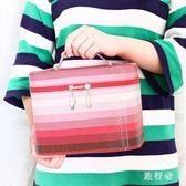 化妝箱 大鏡子收納箱女士旅行便攜化妝包防水洗漱用品收納盒 BF9846【旅行者】