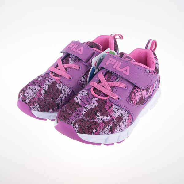 FILA  兒童 輕量 慢跑鞋-紫 2-J424R-992