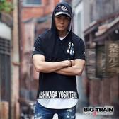 BIG TRAIN  足利義輝連帽短袖潮T-男-B80665