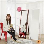 《BuyJM》實木造型兩用穿衣鏡/立鏡/壁鏡(高159寬47.5公分)  鞋櫃 穿衣鏡 穿鞋椅 辦公椅