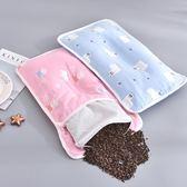 嬰兒枕頭夏季棉質透氣紗布枕套枕巾0-1-3歲男女寶寶喬麥殼定型枕【全館免運可批發】