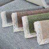 四季通用沙發墊巾防滑布藝簡約現代棉麻坐墊客廳實木沙發墊子  igo 茱莉亞嚴選