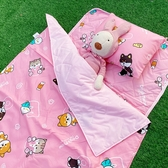睡墊組 / 兒童標準【逗柴貓-三色可選】專用睡墊三件組 高密度磨毛布 戀家小舖台灣製ABF088