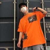 潮男T恤 夏歐美街頭嘻哈潮牌hiphop短袖男女惡搞bf風ins超火的上衣半袖T恤 印象部落