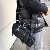 ONEMAX冬上新/日系街頭工裝機能休閒斜挎包潮男女黑色多功能腰包