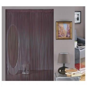 金格拉斯單色細線簾90x240cm咖啡