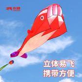 濰坊永健軟體海豚鯨魚風箏微風易飛大型立體成人風箏線輪 全館9折igo